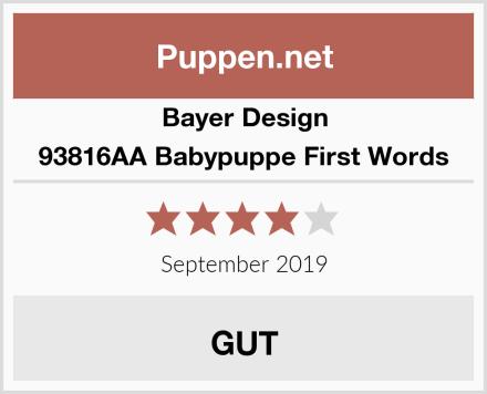 Bayer Design 93816AA Babypuppe First Words Test