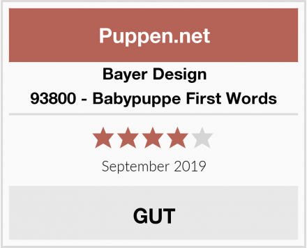 Bayer Design 93800 - Babypuppe First Words Test