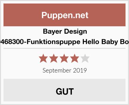 Bayer Design 9468300-Funktionspuppe Hello Baby Boy Test
