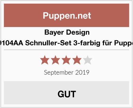 Bayer Design 79104AA Schnuller-Set 3-farbig für Puppen Test