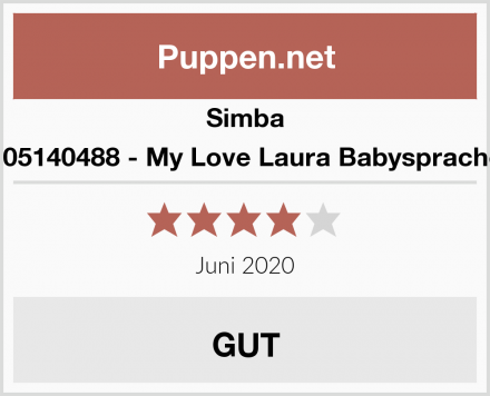 Simba 105140488 - My Love Laura Babysprache Test