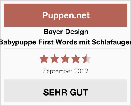 Bayer Design Babypuppe First Words mit Schlafaugen Test