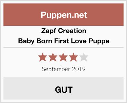 Zapf Creation Baby Born First Love Puppe Test
