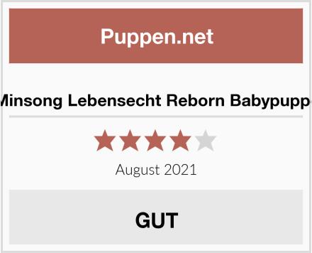 No Name Minsong Lebensecht Reborn Babypuppe Test