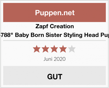 "Zapf Creation 824788"" Baby Born Sister Styling Head Puppe Test"
