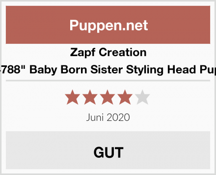 """Zapf Creation 824788"""" Baby Born Sister Styling Head Puppe Test"""