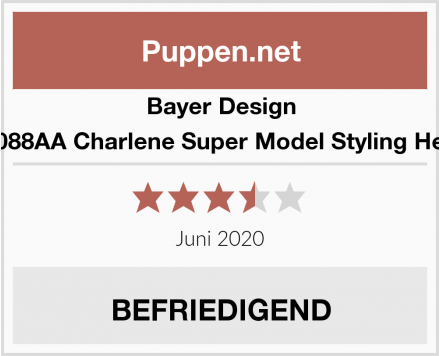 Bayer Design 90088AA Charlene Super Model Styling Head Test