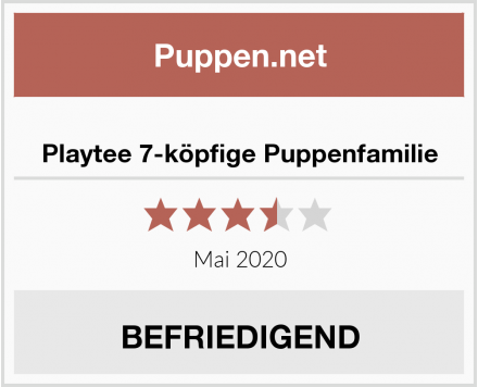 No Name Playtee 7-köpfige Puppenfamilie Test