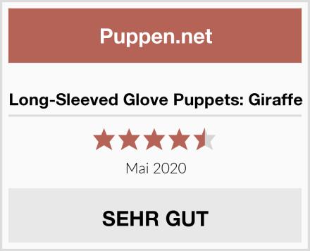 Long-Sleeved Glove Puppets: Giraffe Test