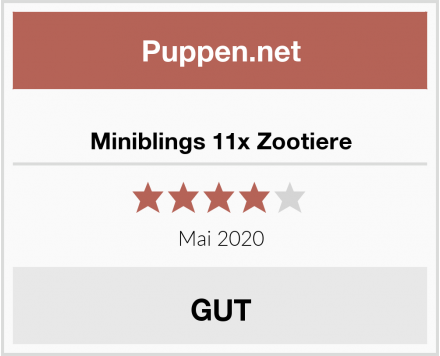 Miniblings 11x Zootiere Test
