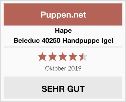Hape Beleduc 40250 Handpuppe Igel Test