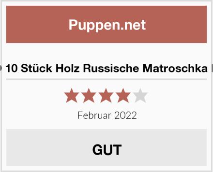 ANKKO 10 Stück Holz Russische Matroschka Puppen Test