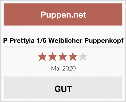 P Prettyia 1/6 Weiblicher Puppenkopf Test