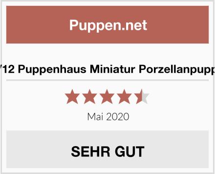 1/12 Puppenhaus Miniatur Porzellanpuppe Test
