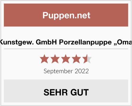 "R.Faelens Kunstgew. GmbH Porzellanpuppe ""Oma mit Katze"" Test"