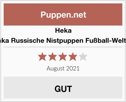 Heka Naturals Matrjoschka Russische Nistpuppen Fußball-Weltmeisterschaft 2018 Test