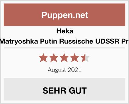 Heka Naturals Matryoshka Putin Russische UDSSR Präsidenten Test