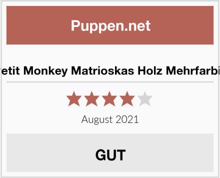 Petit Monkey Matrioskas Holz Mehrfarbig Test