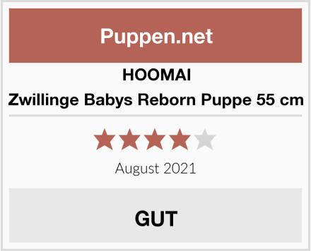 HOOMAI Zwillinge Babys Reborn Puppe 55 cm Test