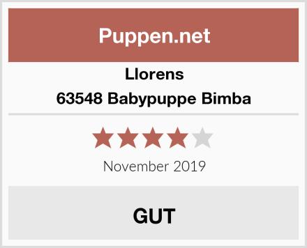 Llorens 63548 Babypuppe Bimba Test