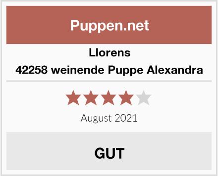 Llorens 42258 weinende Puppe Alexandra Test