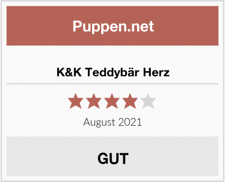 K&K Teddybär Herz Test