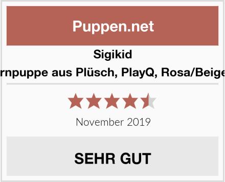 Sigikid Mädchen, Lernpuppe aus Plüsch, PlayQ, Rosa/Beige/Grün, 40882 Test