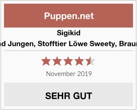 Sigikid Mädchen und Jungen, Stofftier Löwe Sweety, Braun/Rot, 38374 Test
