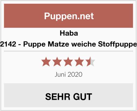 Haba 2142 - Puppe Matze weiche Stoffpuppe Test