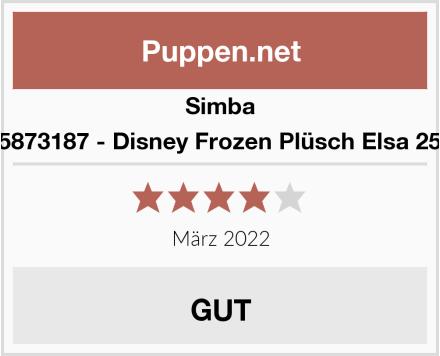 Simba 6315873187 - Disney Frozen Plüsch Elsa 25 cm Test