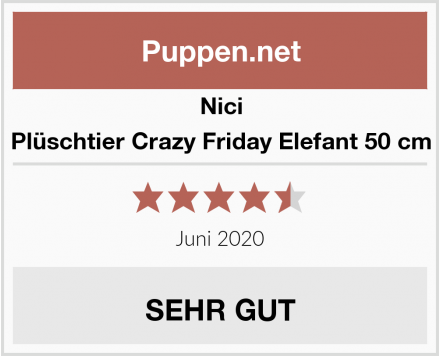 Nici Plüschtier Crazy Friday Elefant 50 cm Test