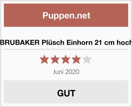 BRUBAKER Plüsch Einhorn 21 cm hoch Test