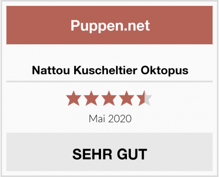 Nattou Kuscheltier Oktopus Test
