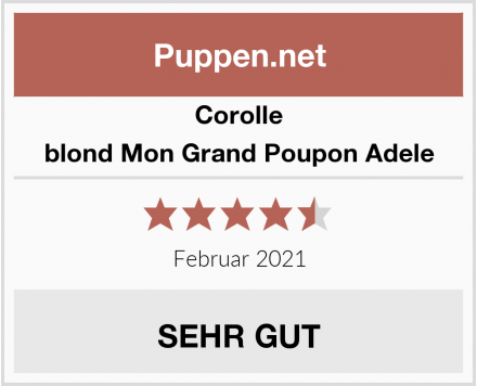 Corolle blond Mon Grand Poupon Adele Test