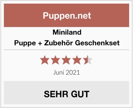Miniland Puppe + Zubehör Geschenkset Test