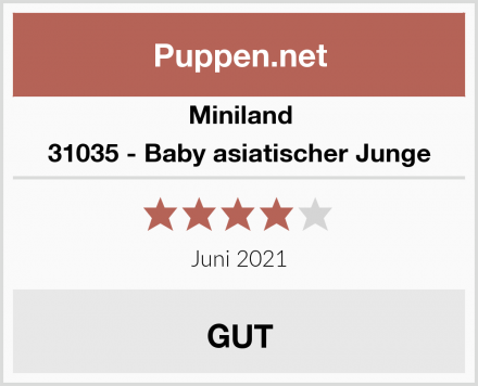 Miniland 31035 - Baby asiatischer Junge Test