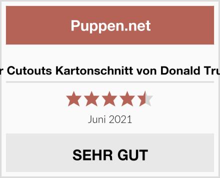 Star Cutouts Kartonschnitt von Donald Trump Test