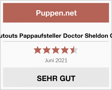 Star Cutouts Pappaufsteller Doctor Sheldon Cooper Test