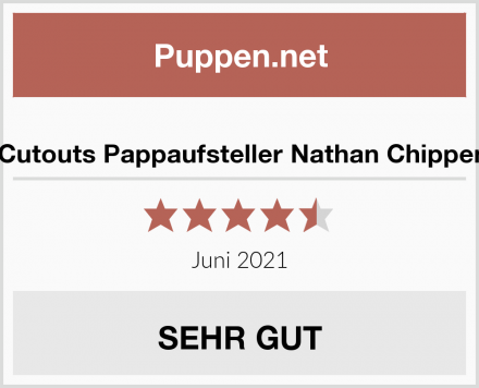Star Cutouts Pappaufsteller Nathan Chippendale Test