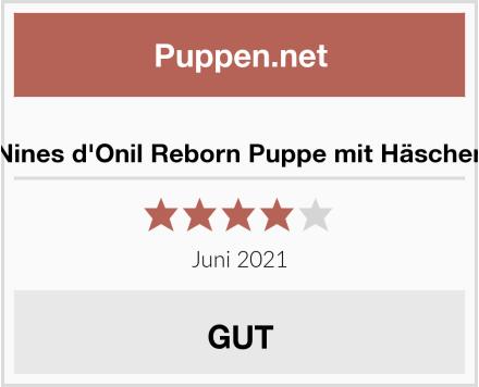 Nines d'Onil Reborn Puppe mit Häschen Test