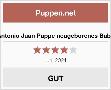 Antonio Juan Puppe neugeborenes Baby Test