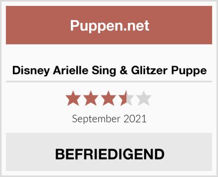 Disney Arielle Sing & Glitzer Puppe Test