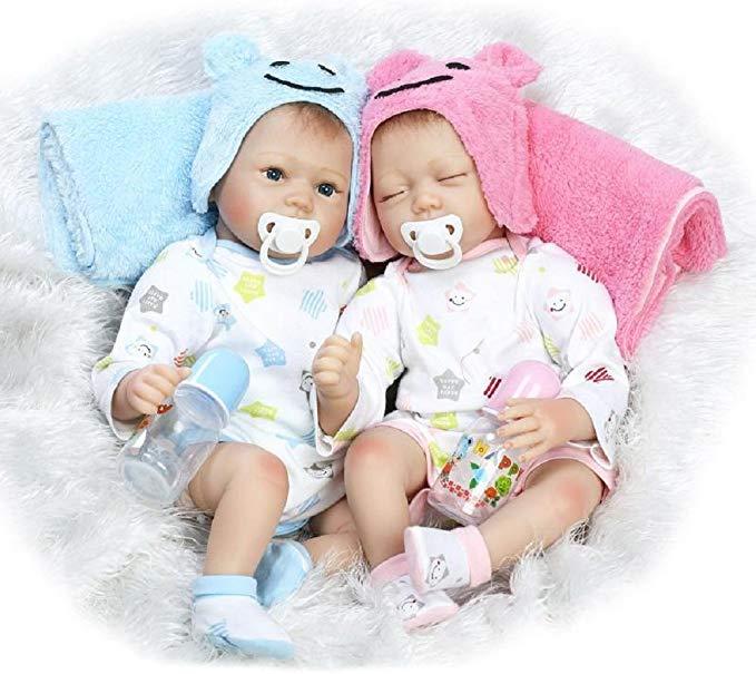 HOOMAI Zwillinge Babys Reborn Puppe