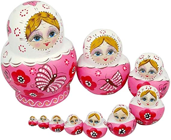No Name ANKKO 10 Stück Holz Russische Matroschka Puppen