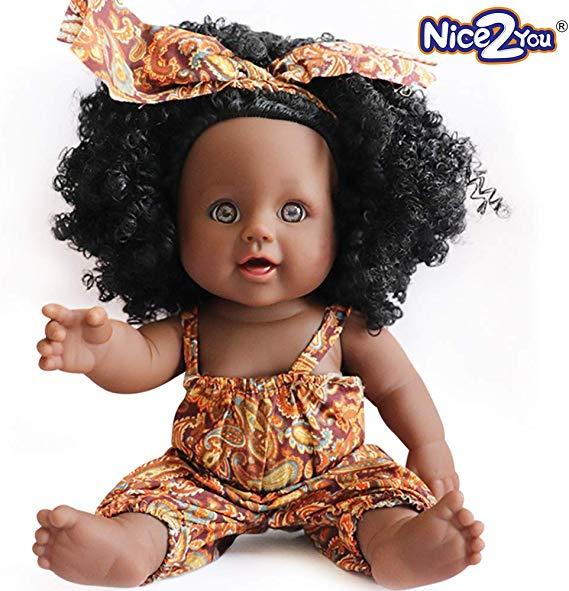 No Name Nice2you Schwarz Puppe African