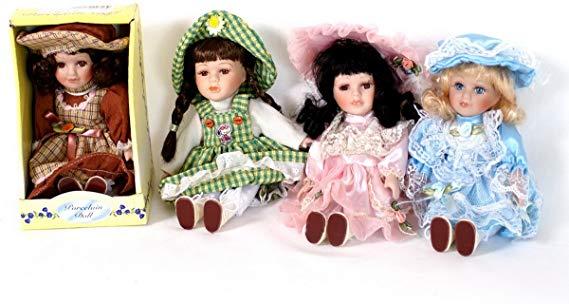 No Name Porzelan Puppen 4er Set