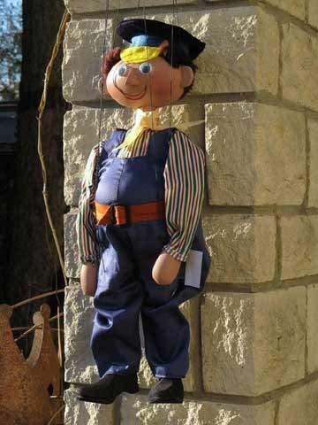 Prager Marionetten Lukas der Lokomotivführer - Marionette der Augsburger Puppenkiste