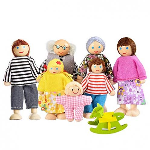 Watme 7-köpfige Puppenfamilie