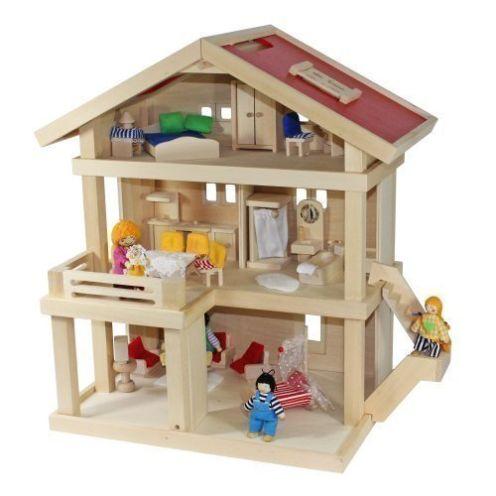 Freda Villa Puppenhaus + Puppenfamilie