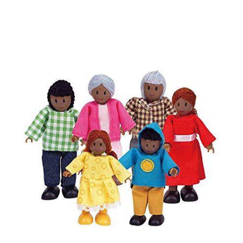 Hape E3501 - Puppenfamilie Dunkle Haut
